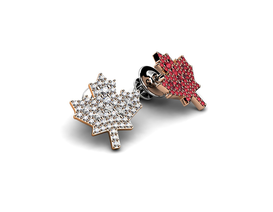 Solitaire Corporate Jewellery: Canadian Leaf Pins