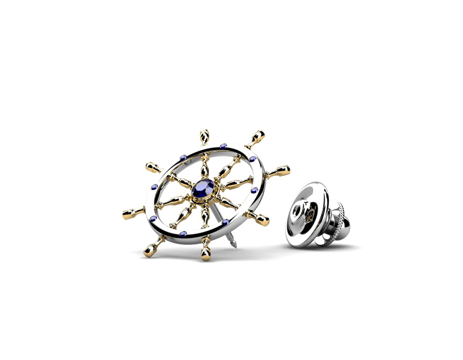 Solitaire Corporate Jewellery: Ship Wheel Pin