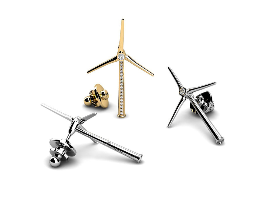 Solitaire Corporate Jewellery: Windmill Pins